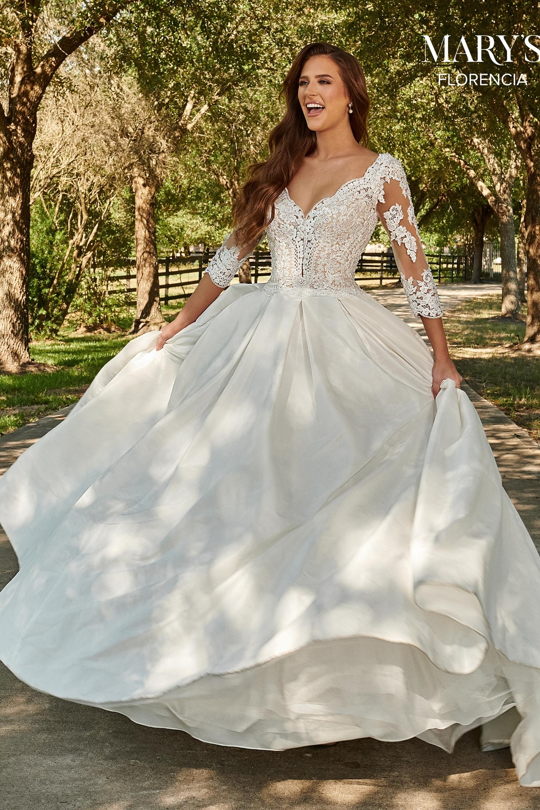 Mary's Bridal Florencia Bridal Gown in Ivory Color - Side Cropped Image