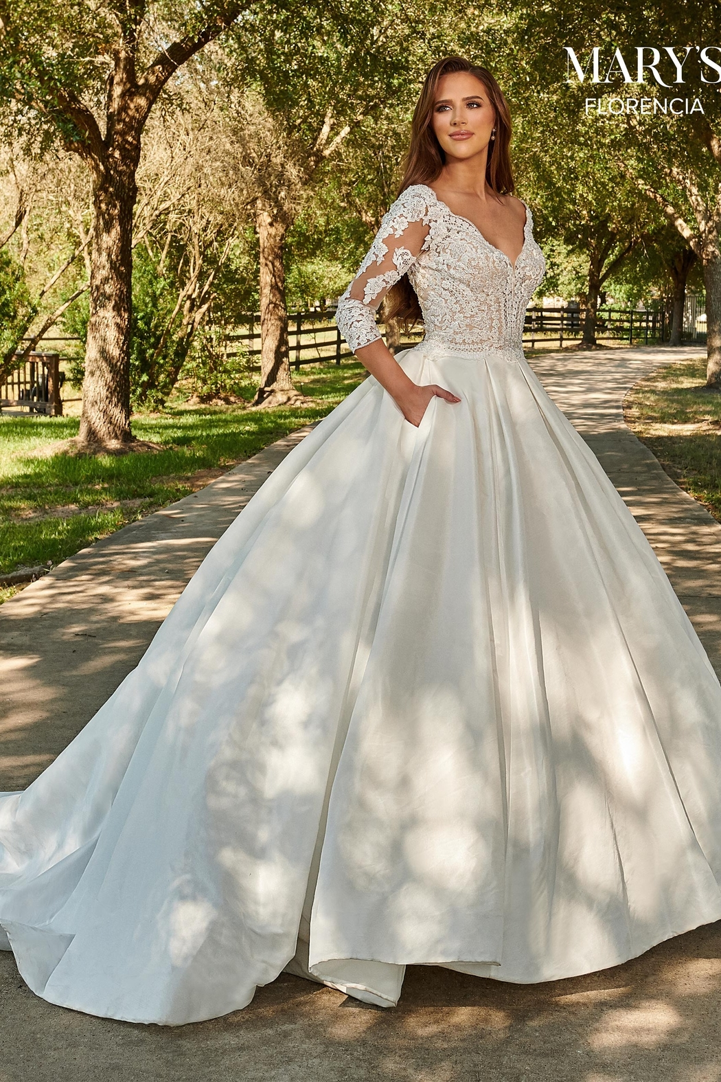 Mary's Bridal Florencia Bridal Gown in Ivory - Main Image