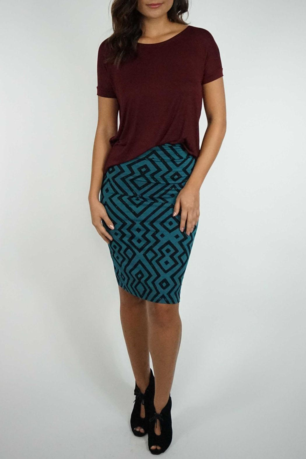 florencia arias midi fitted skirt from hawaii by the butik