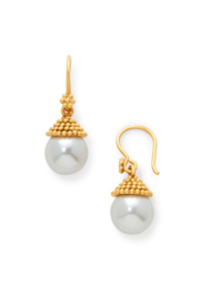 The Birds Nest Florentine Demi-Pearl Earring Gold Pearl - Product Mini Image