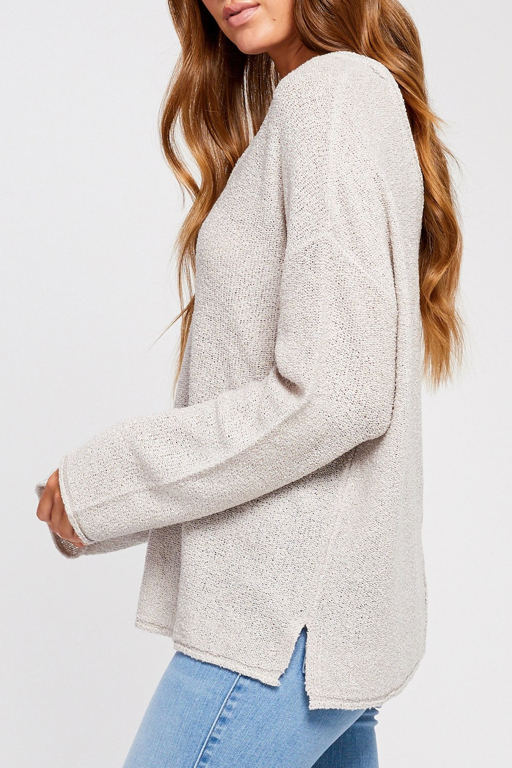 Gentle Fawn Florentine Loose Knit Sweater - Side Cropped Image