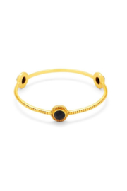 Julie Vos FLORENTINE STONE BANGLE-GOLD SAPPHIRE(SMALL) - Product Mini Image