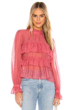 Line & Dot Floresta Ruffle Tier Top - Product List Image