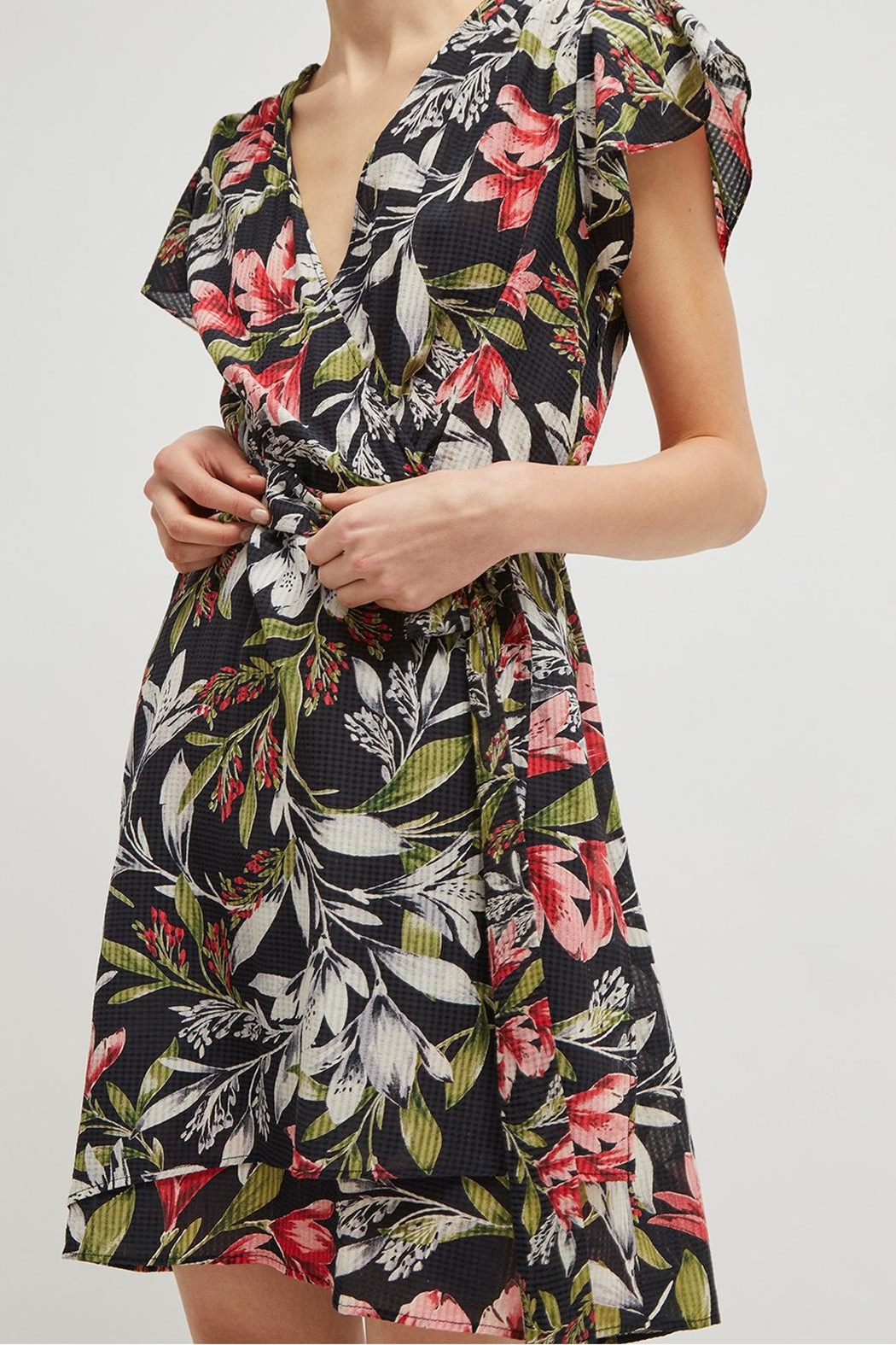 French Connection Floreta Wrap Dress - Front Cropped Image