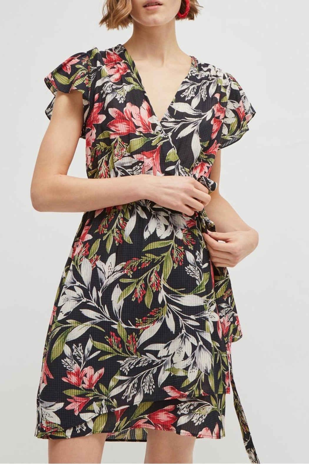 French Connection Floreta Wrap Dress - Front Full Image