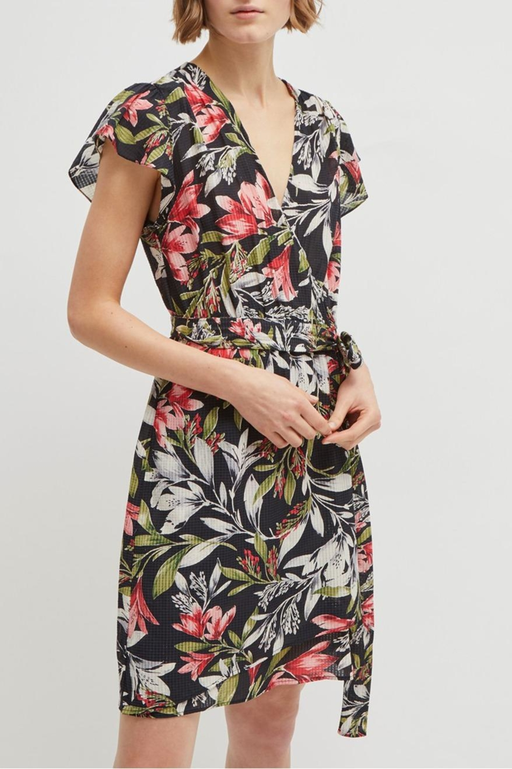 French Connection Floreta Wrap Dress - Side Cropped Image