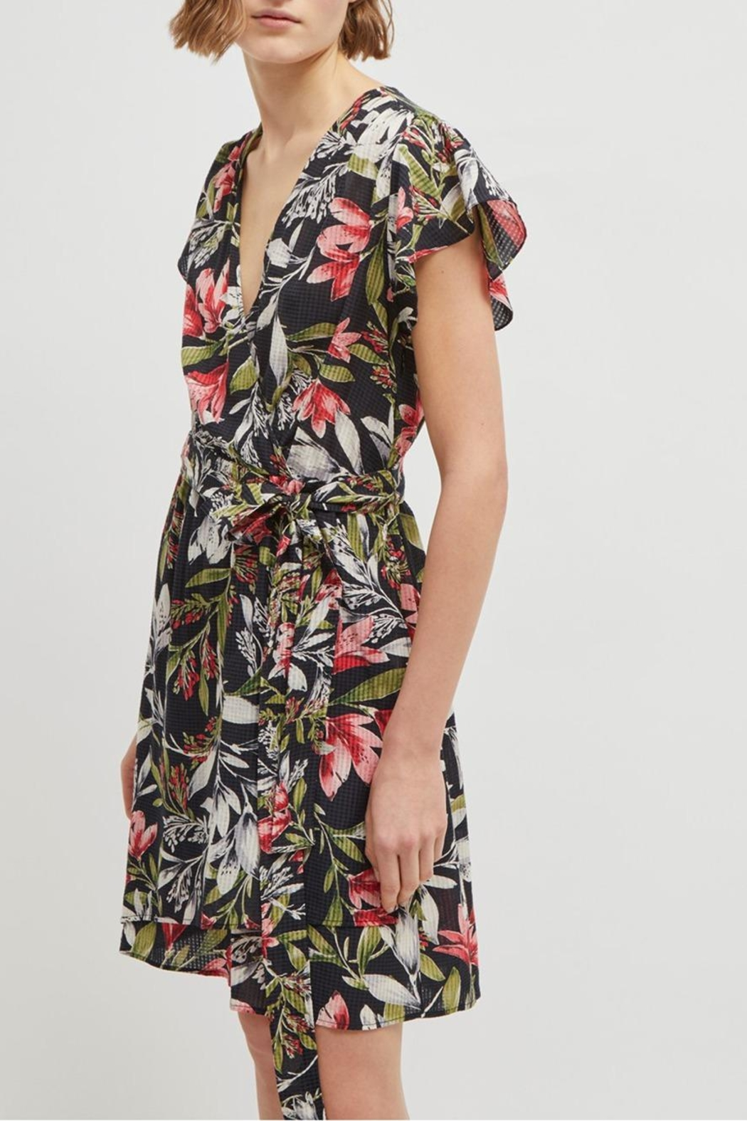 French Connection Floreta Wrap Dress - Back Cropped Image