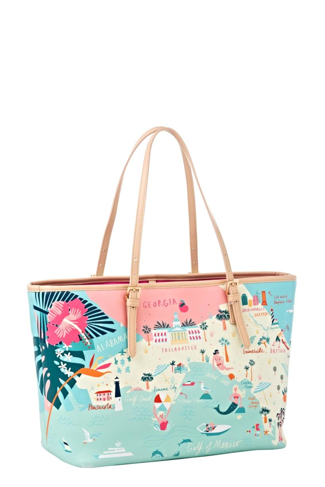 Spartina Florida Map Tote - Front Full Image