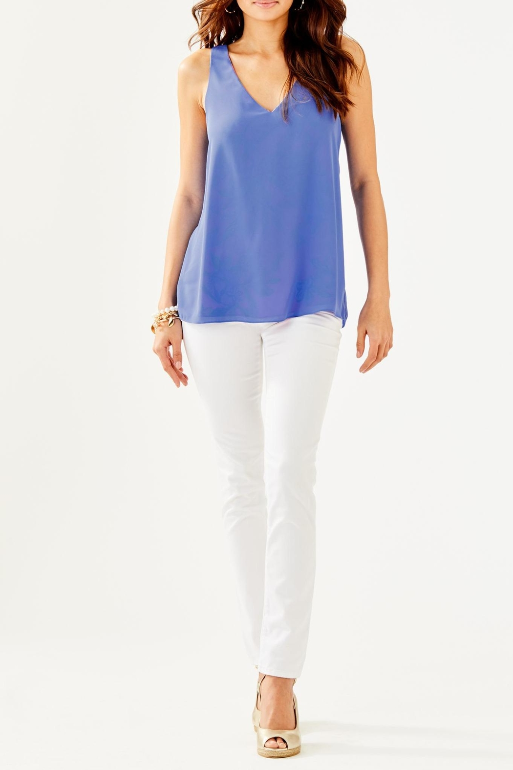 Lilly Pulitzer Florin V-Neck Top - Side Cropped Image