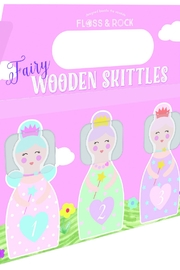 FLOSS & ROCK Wooden Fairy Skittles - Front cropped