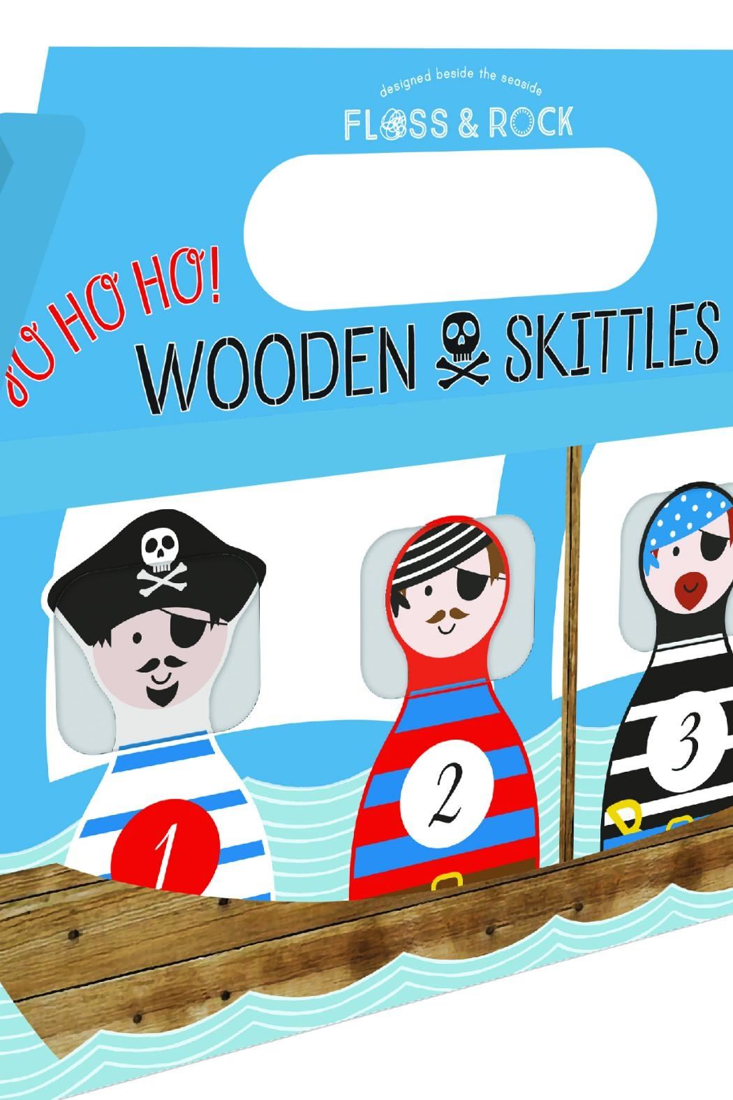 FLOSS & ROCK Wooden Pirate Skittles - Main Image