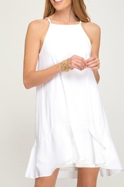 She + Sky Flounce Hem Dress - Product Mini Image