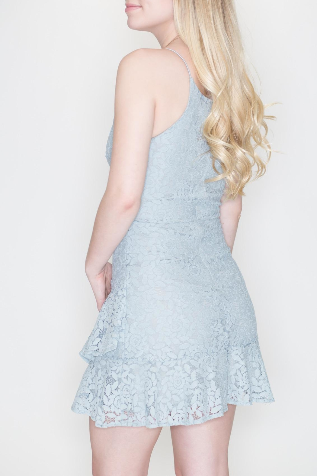 She + Sky Fit-And-Flare Lace Dress - Back Cropped Image