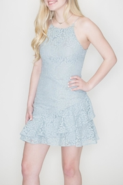 She + Sky Fit-And-Flare Lace Dress - Front full body