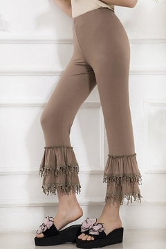 sassy Bling Flounce Pull-On Capris - Product List Image
