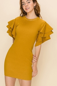 HYFVE Flounce Sleeve Dress - Product List Image