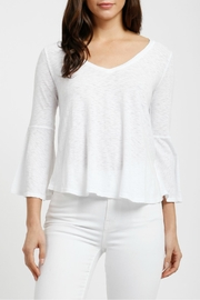 Three Dots Flounce Sleeve Top - Product Mini Image