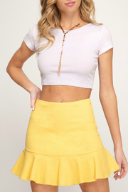 She + Sky Flounce woven mini skirt - Product Mini Image
