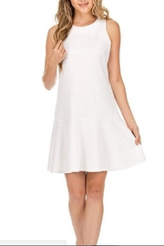 Jade Flounced Ponte Dress - Product Mini Image