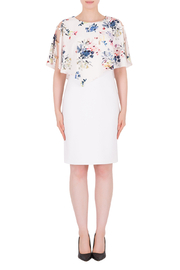 Joseph Ribkoff  Flower Cape Dress - Front cropped