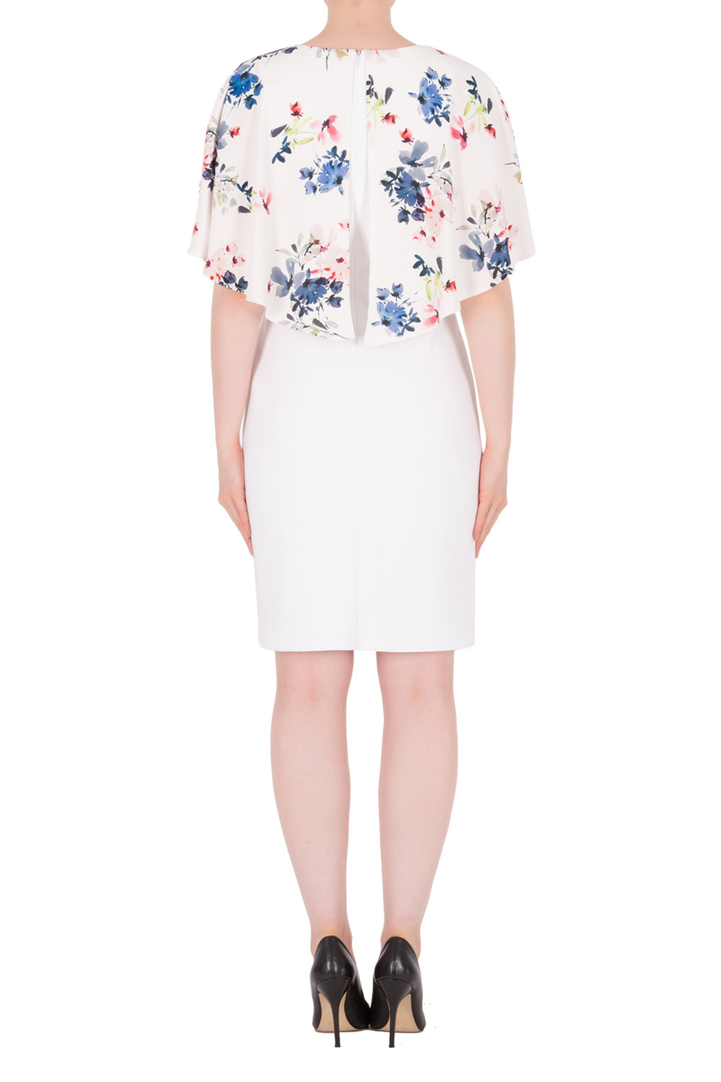 Joseph Ribkoff  Flower Cape Dress - Side Cropped Image