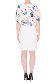 Joseph Ribkoff  Flower Cape Dress - Side cropped