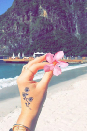 Inked by Dani Flower Child Temporary Tattoos - Front cropped