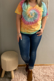 Kindred Mercantile  Flower Child Tie Dye Tee - Product Mini Image