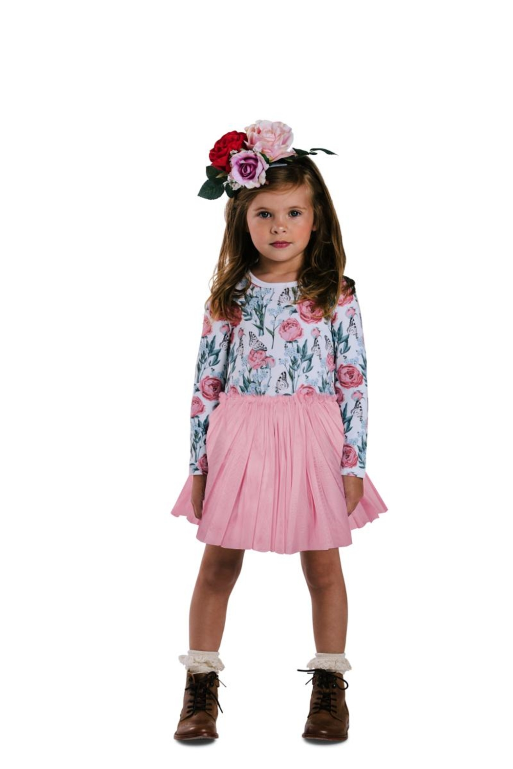 Rock Your Baby Flower Circus Dress - Front Full Image