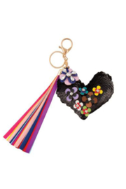 Fashion Angels FLOWER COVERED MAGIC SEQUIN HEART BAG CHARM - Product Mini Image
