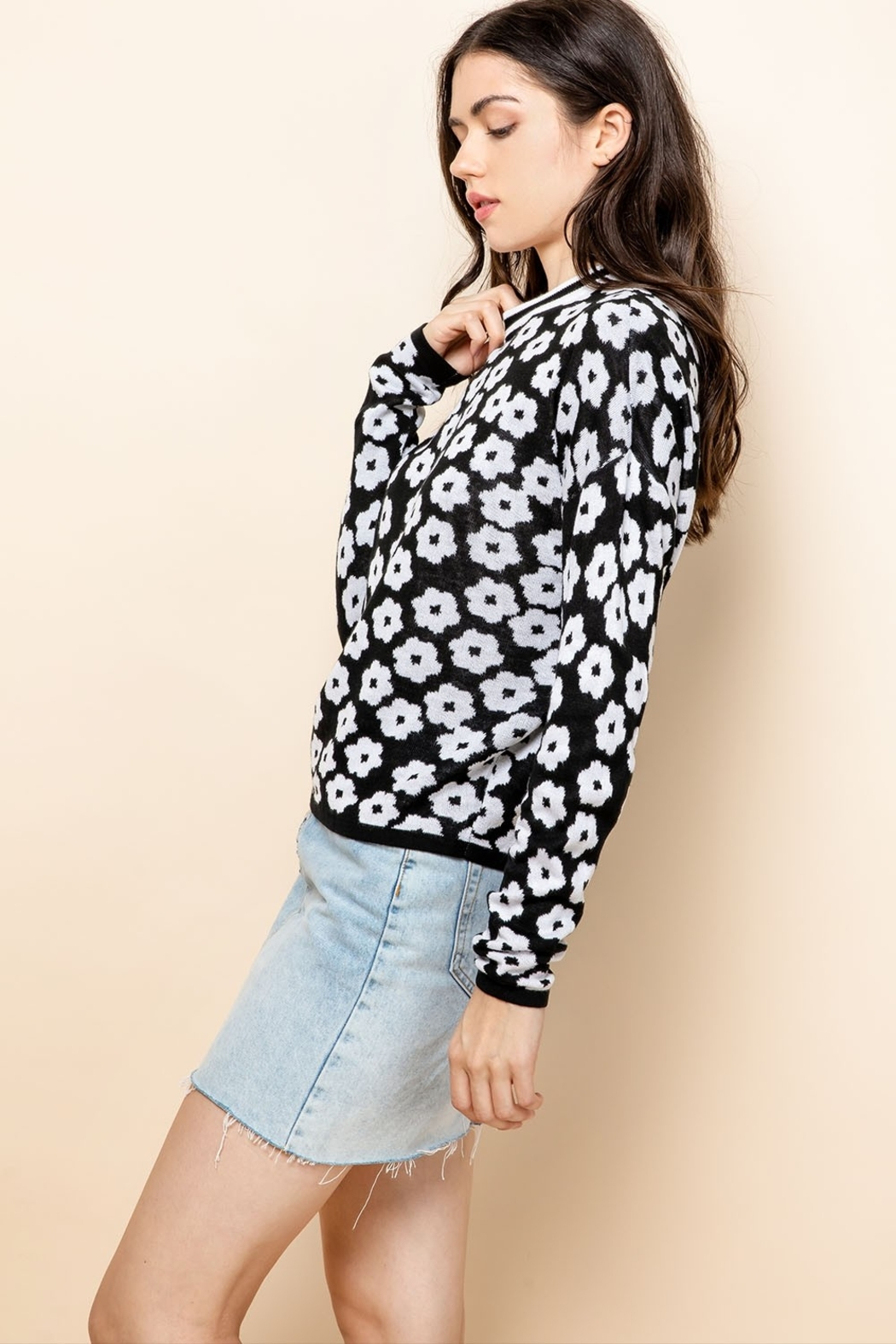 Thml Flower Crewneck Sweater - Front Full Image