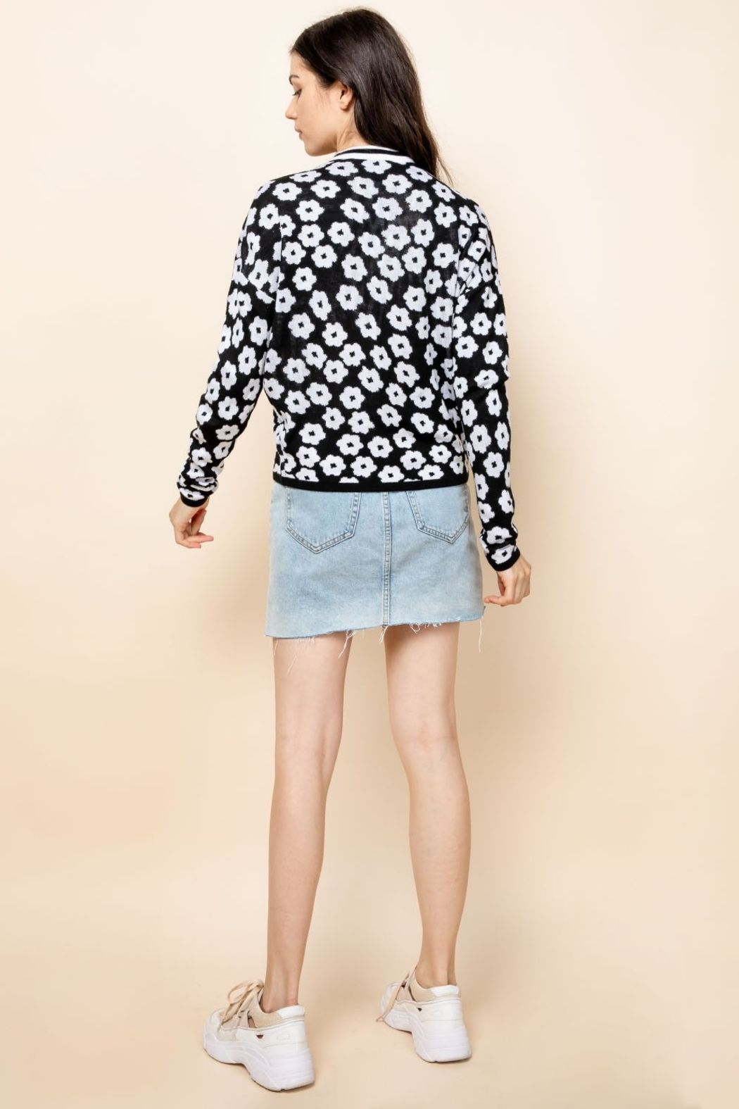 Thml Flower Crewneck Sweater - Back Cropped Image