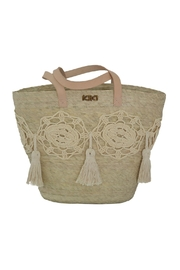 Kiki Flower Crude Tote - Front cropped