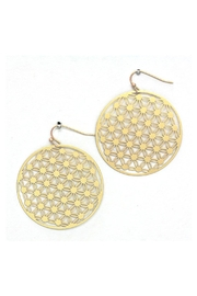 Wild Lilies Jewelry  Flower Disc Earrings - Product Mini Image