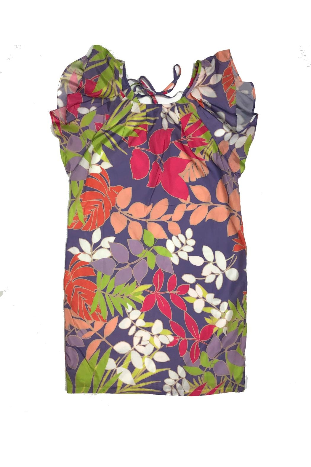 EsQualo Flower Dress - Front Cropped Image