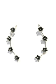 Light Years Collection Flower Ear Climber - Product Mini Image