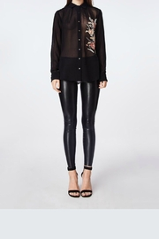 Nicole Miller Flower Embroidery Blouse - Product Mini Image