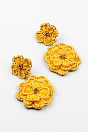 Embellish Flower Embroidery Earrings - Product Mini Image