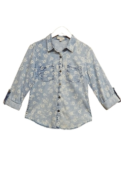 In Style Flower Faded Top - Product List Image