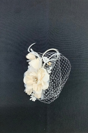 Lucky Collections Flower & Feather Netting - Product Mini Image
