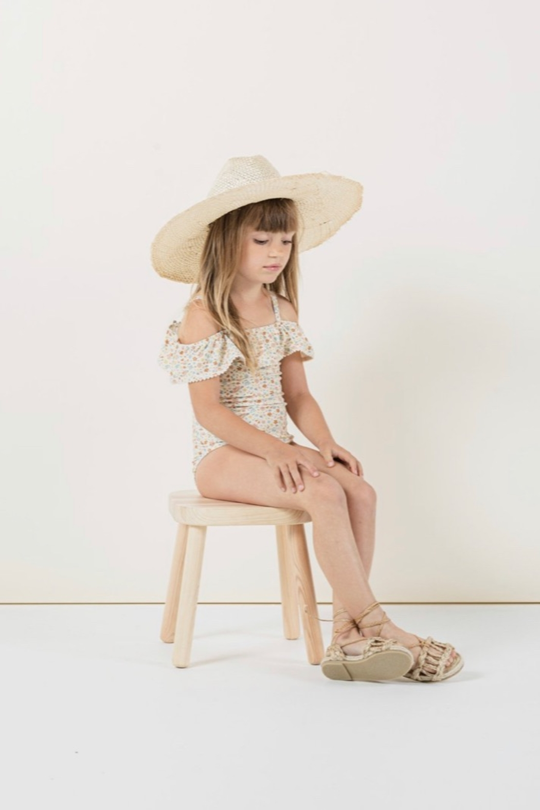 Rylee & Cru Flower Field Off The Shoulder One Peice - Front Full Image