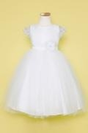 Calla Collection  Flower Girl Dress - Front cropped