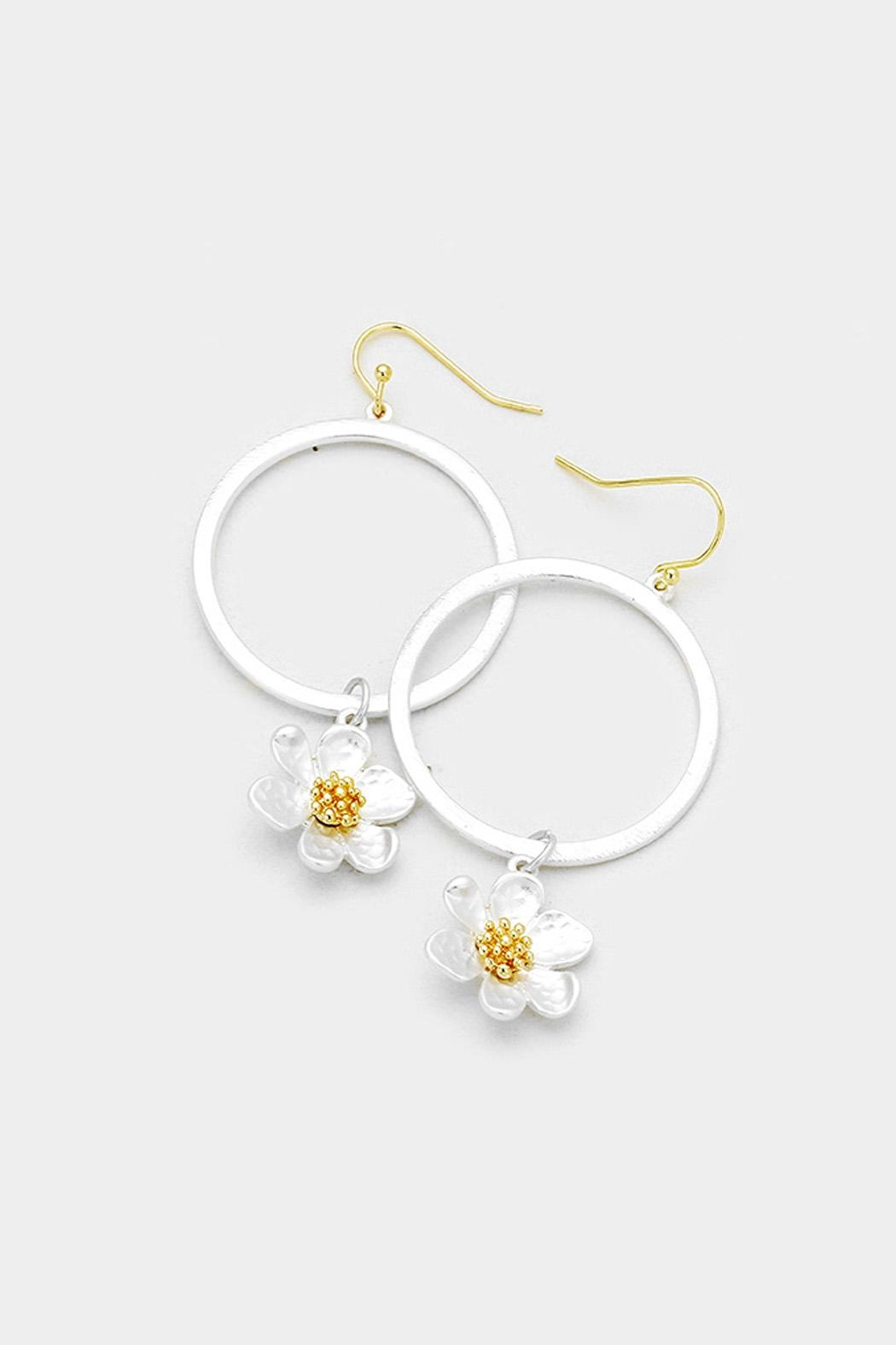 Wild Lilies Jewelry Flower Hoop Earrings Front Cropped Image