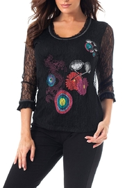 Angel Apparel Flower Lace Top - Front cropped