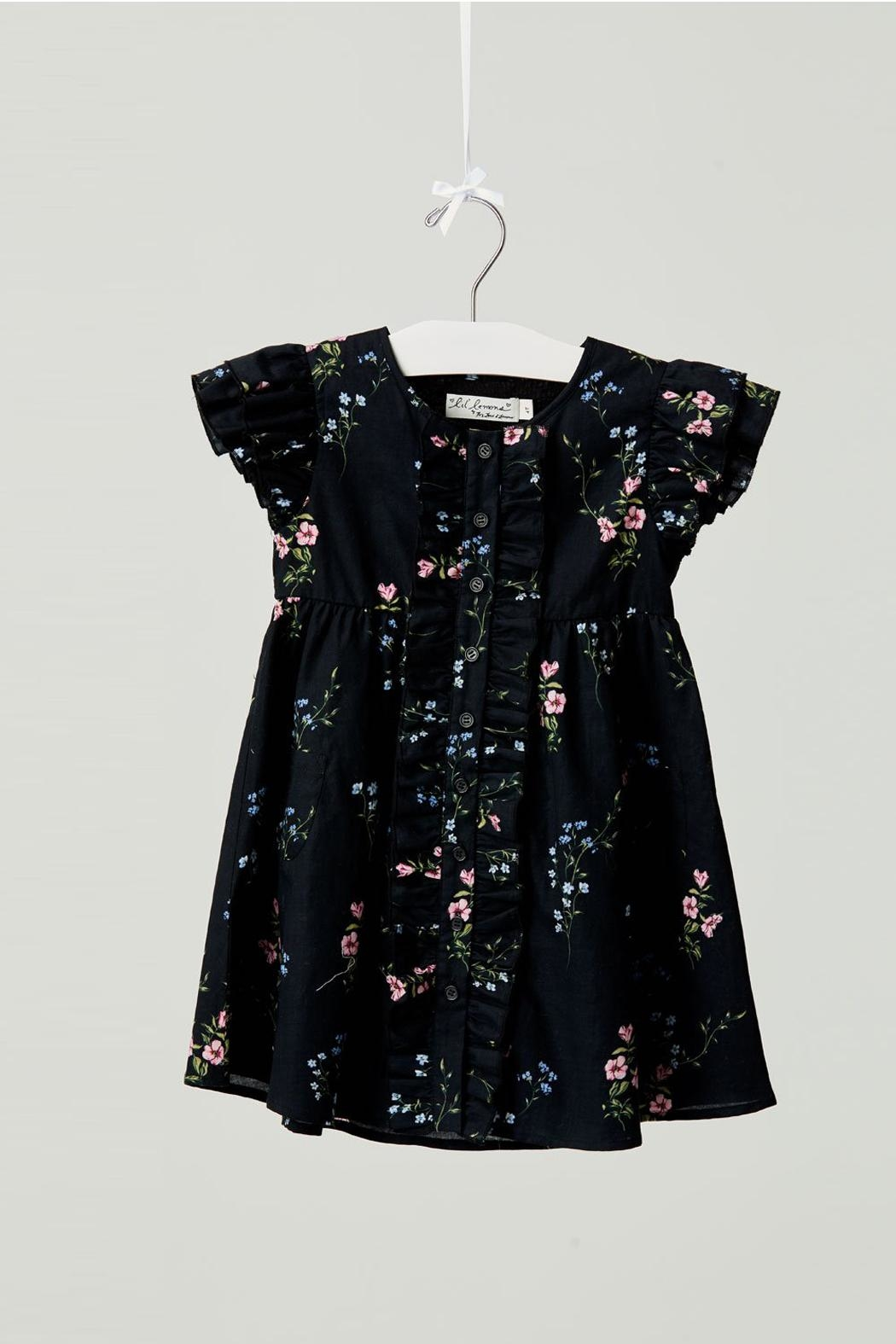 Lil Lemons Flower Patch Dress - Side Cropped Image