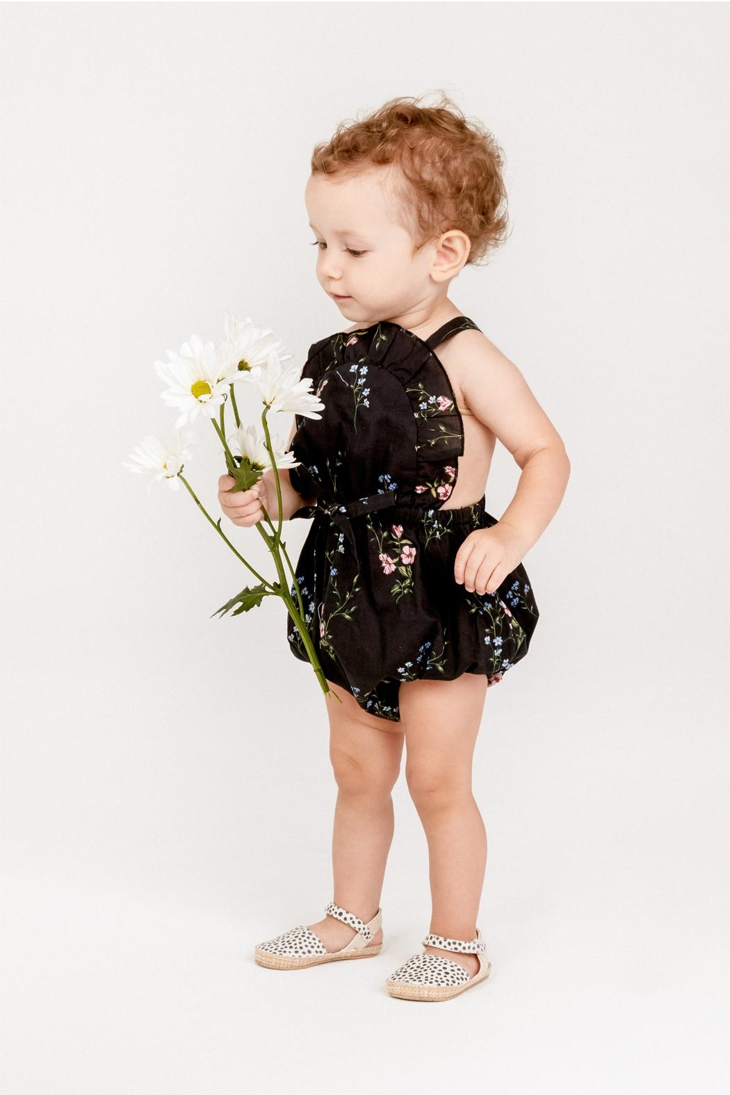 Lil Lemons Flower Patch Onesie - Front Cropped Image