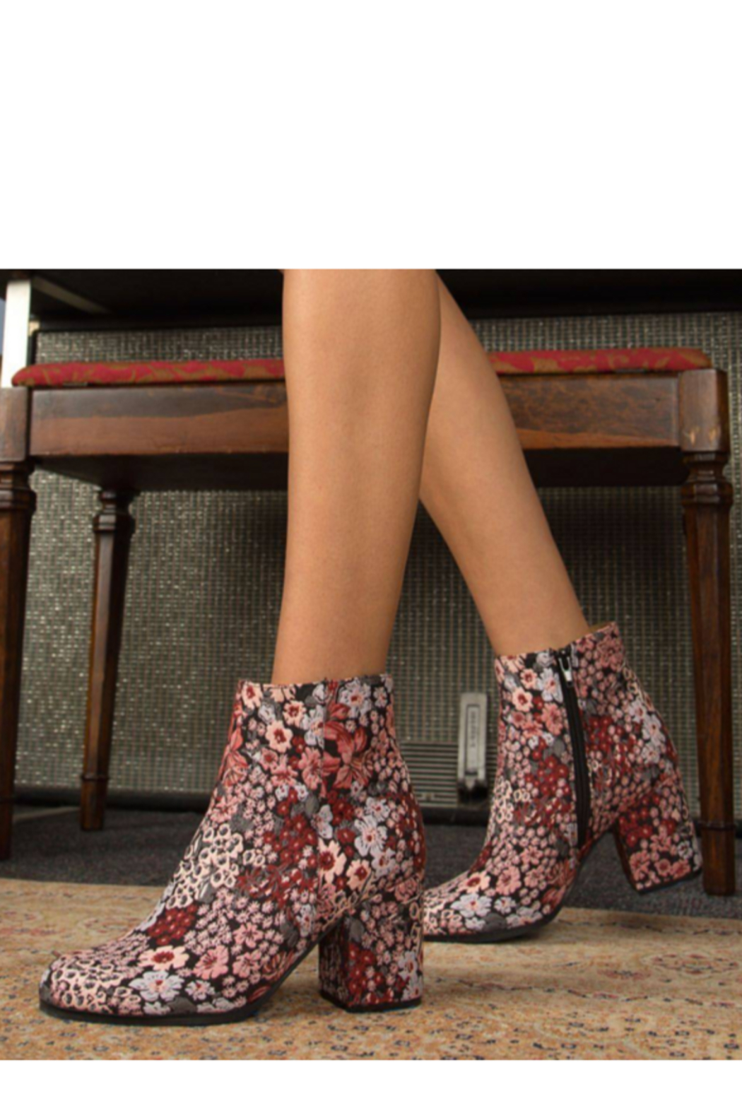 Qupid Flower Patterned  Bootie - Main Image