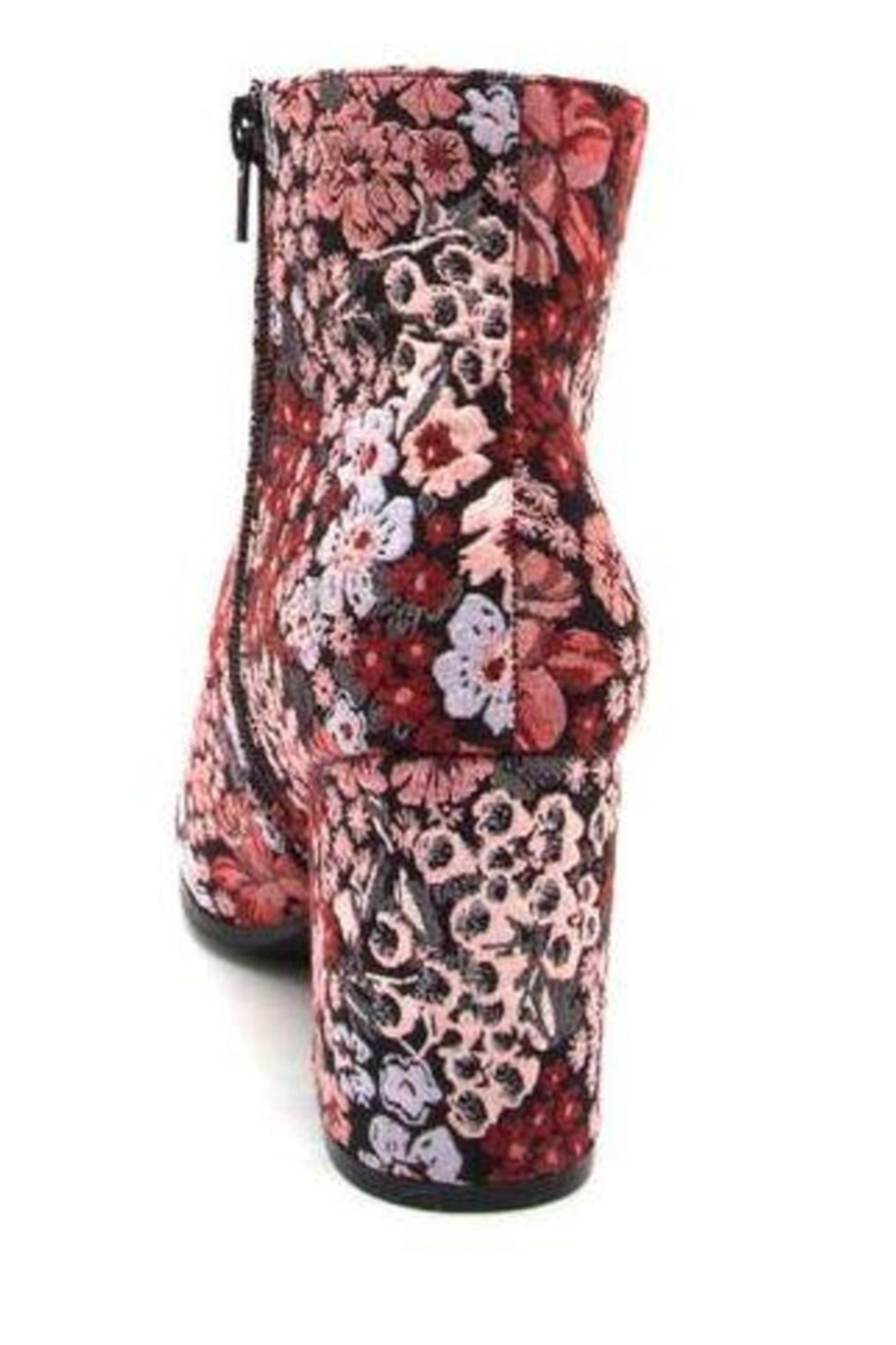 Qupid Flower Patterned  Bootie - Front Full Image