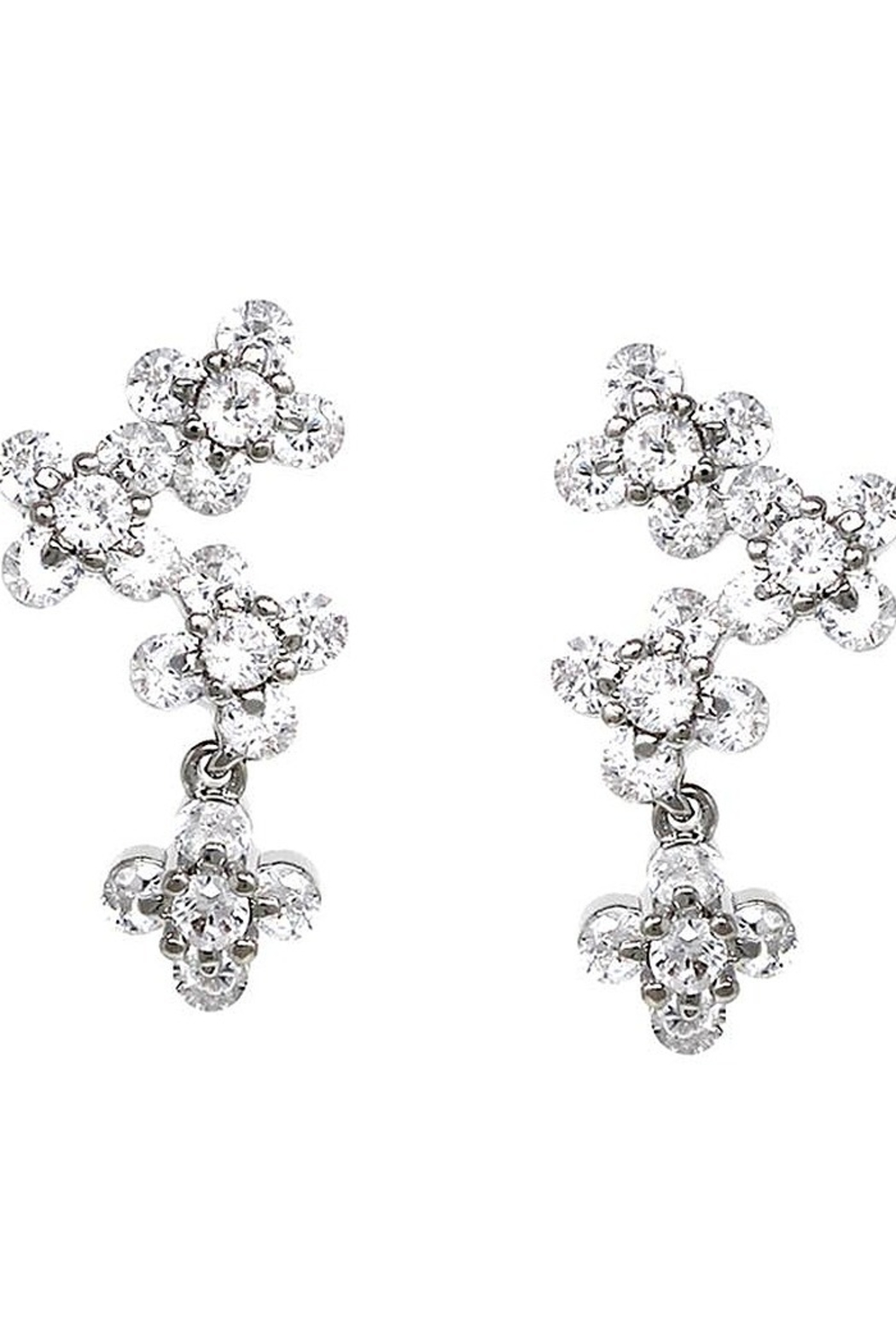 US Jewelry House Flower Pave Earrings - Main Image