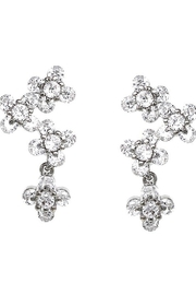 US Jewelry House Flower Pave Earrings - Front cropped